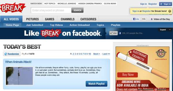 break video sharing website