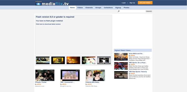 mediaflix video sharing website