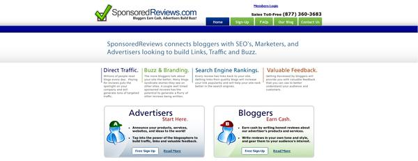 sponsoredreviews How to Make Money Online from Blogging without Using Google Adsense