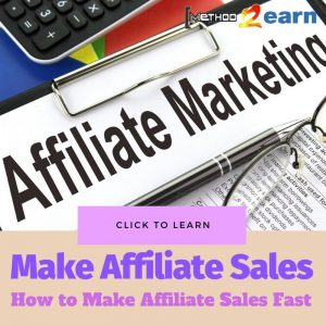 Make Affiliate Sales Fast and Easy